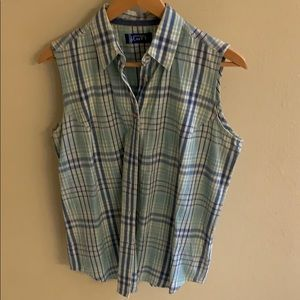 Wrangler Blues plaid sleeveless shirt